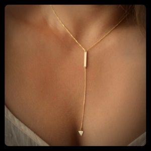 Bar & Triangle Arrow Necklace